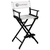"""Counter(30""""H)Director Chair w/XPress 1 Color Printed Canvas"""