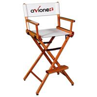 """Counter(30""""H)Director Chair w/XPress 2 Color Printed Canvas"""