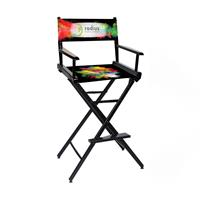 """Counter(30""""H)Director Chair w/Printed Canvas, 2-Sided"""
