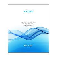 """68""""x80""""H Ascend™ Graphic Hardware w/Graphic"""