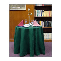 "124""D Round, Satin Table Throw"