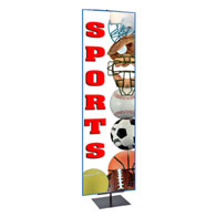 4'-7'H Adj Portable Bannerstand (Hardware only)