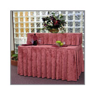 """50"""" Two Tier Skirting Kit Luster Accordian Pleat w/¾"""" Clips"""