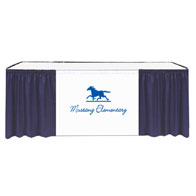 """13'x29""""H Maxi-Vision Skirting Twill w/40"""" Printed Banner 1 Color Xpress Scan (No Clips)"""