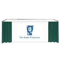 "17'x29""H Maxi-Vision Skirting Twill w/40"" Printed Banner 2 Color Silk Screen (No Clips)"