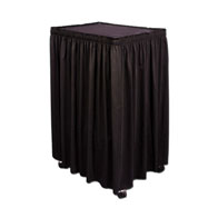 "Custom Cart Skirt 1""x1""-18""H Cameo Accordian Pleat ($/in)"
