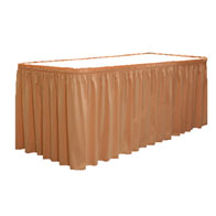 "19""-30""H Shirred Skirting Satin ($/Ft-w/Omni II™ Clips)"