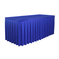 "19""-30""H Box Pleat Skirting Satin ($/Ft-w/Omni II™ Clips)"