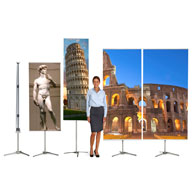 """21-5/8""""x78.75""""H, 1-Sided, Banner Pole System Kit (Base, bag, profiles, Graphic)"""