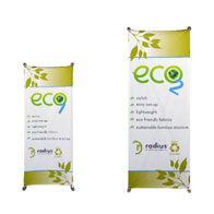 ECO™ 2Banner Stand 2 Kit w/ Graphic