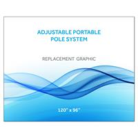 """120""""x96""""H Graphic for Port Pole System"""