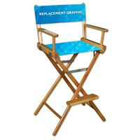 Director Chair Canvas Printed, 2-Sided