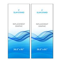 Graphic for 3' Radius Slim Stand™, 2-Sided