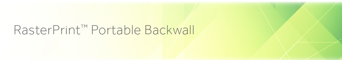 RasterPrint Portable Backwall Hardware